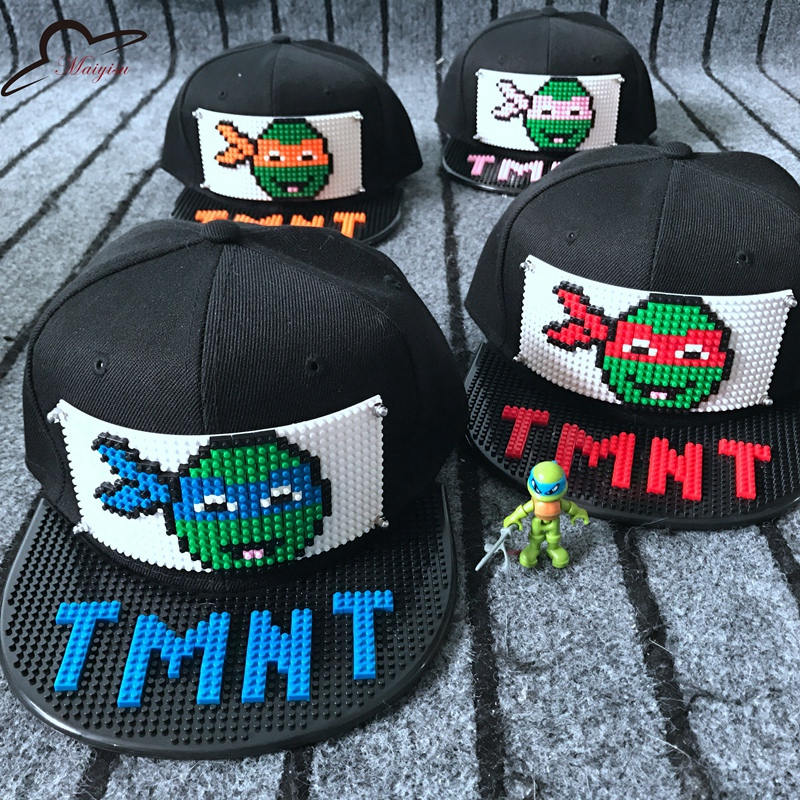 Apparel Accessories New Custom Blocks Design Diy Bricks Tmnt Hip Hop Cap Outdoor Cartoon Men Women Fashion Hat Cool Baseball Caps