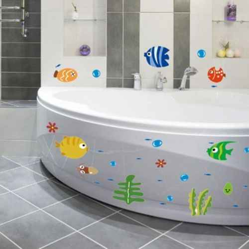 NEW Ocean Sea Fish Vinyl Removable Mural Wall Sticker Kids Room Bath Art Decor