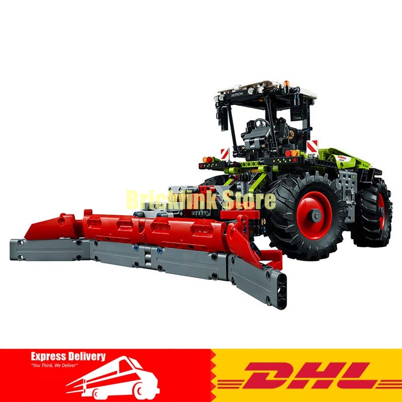 IN Stock LEPIN 20009 1977Pcs Technic Mechanical Heavy Tractors Building Blocks Compatible 42054 Brick Toy 2017 new lepin 20009 1977pcs technic claas xerion 5000 trac vc model building kits blocks bricks compatible toys gift with 42054