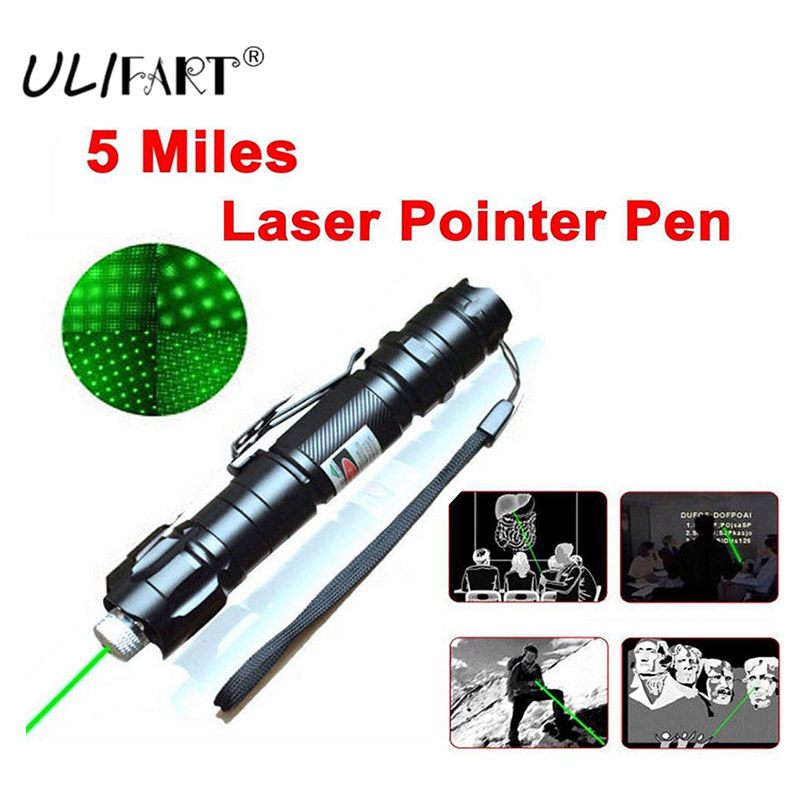 ULIFART 5mW 532nm Tactical Laser Grade Green Pointer Strong Pen Powerful Lasers Lazer Flashlight Military Nobattery Dropshipping