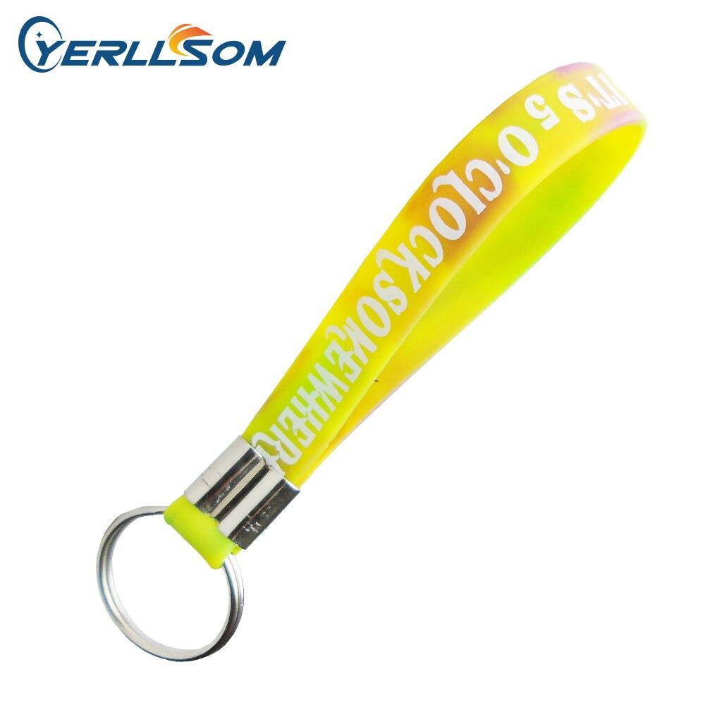 500 шт./лот Бесплатная Доставка заказной scren напечатанный логотип Swril силиконовый брелок K032501