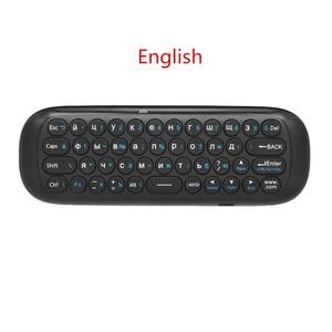 Image 3 - Wechip W1 Mini Air Mouse Gyro Sensing 2.4G Remote Contro angielska lub rosyjska bezprzewodowa klawiatura na inteligentny telewizor z androidem Box mini PC