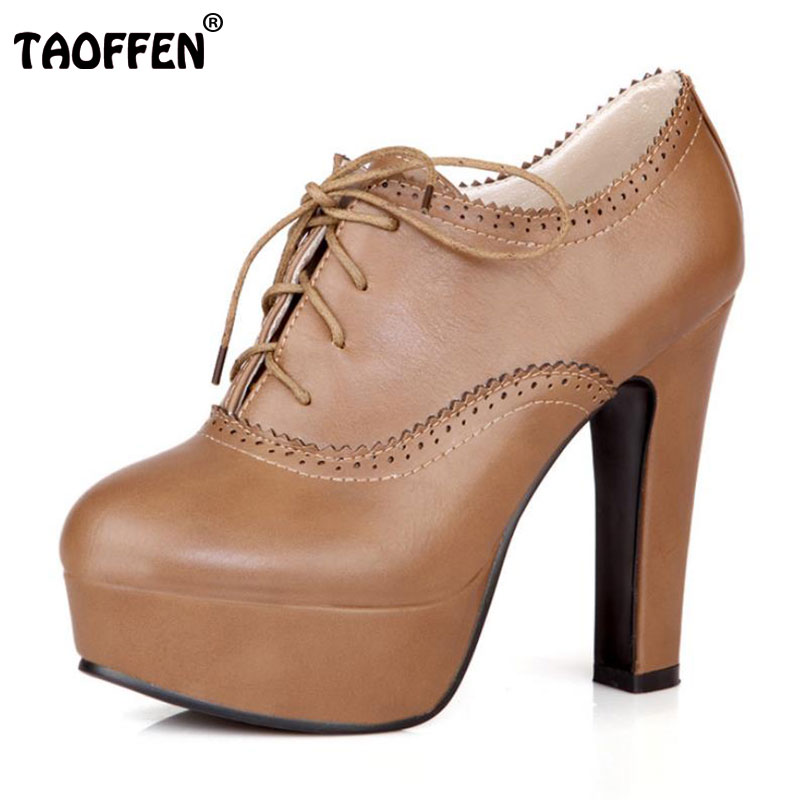TAOFFEN women stiletto high heel shoes sexy lady platform spring fashion heeled pumps heels shoes plus big size 34-47 P16740