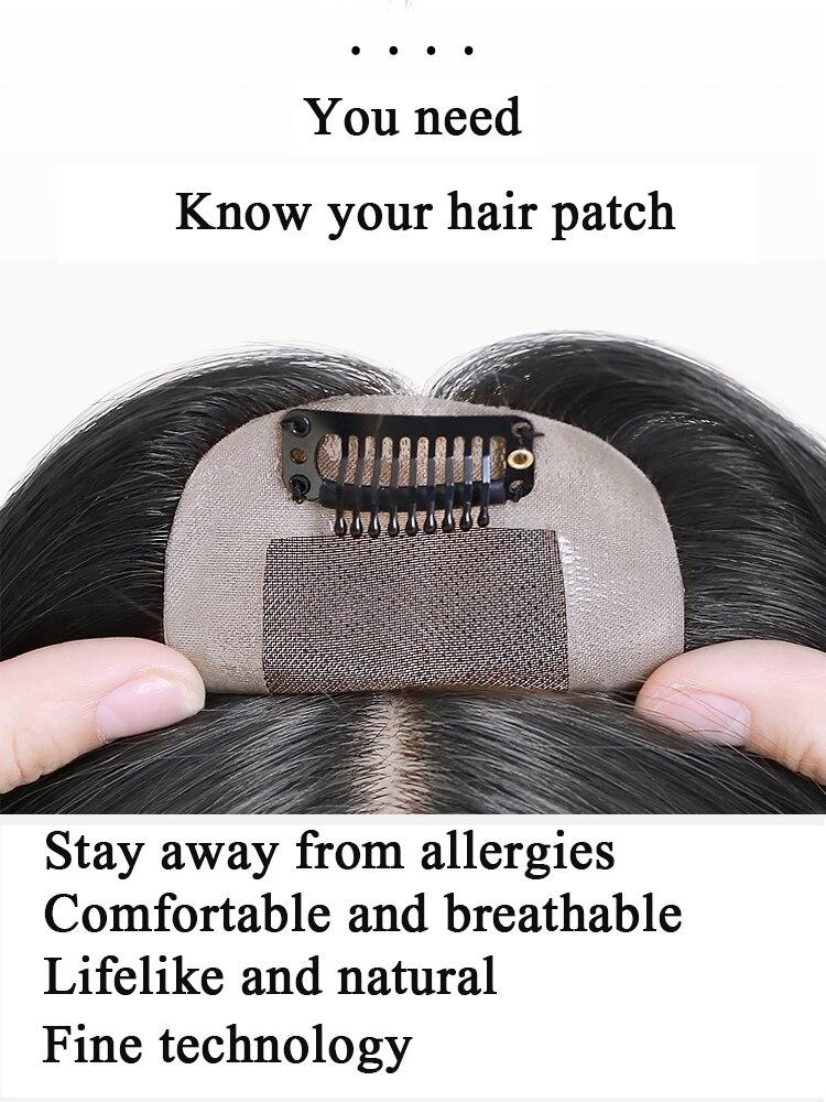 Uma peça de peruca sintética
