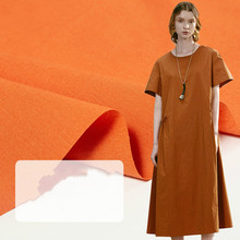 Cotton Shirt Fabric Non-elastic 40S Dyed Poplin Plain Dress Textile Per Meter Material