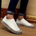 DreamShining New Brand Fashion Shoes Pu Leather Casual Men Trainers Breathe Shoes Footwear Zapatillas Striped Casual Shoes