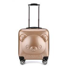 Luggage Suitcase Travel Children Cute ABS New Bear Cartoon Birthday-Gift 18--Inch LGX50