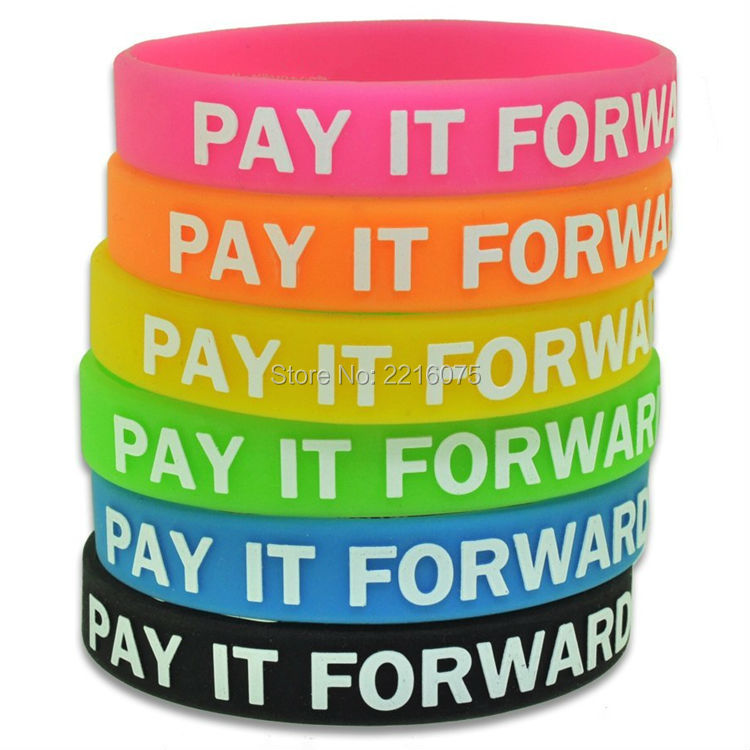 Us 160 0 300pcs Pay It Forward Silicone Wristband Rubber Bracelets Free Shipping By Dhl Express In Cuff From Jewelry Accessories On