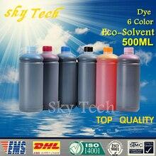 500 ml * 6 colorant eco solvant encre costume pour epson imprimante à plat, K C M Y LC LM, 6 color, pour le bois, en métal, PVC en céramique etc