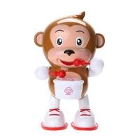 Flashing LED Light Electric Monkey Toys Kids Children Plastic Dancing Monkey Baby Kids Intelligence Developmental Music