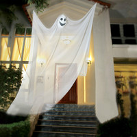 Halloween Decor Scary Skull Hanging Ghost Halloween Party Props Creepy Haunted House Escape Horror Decoration Zombies