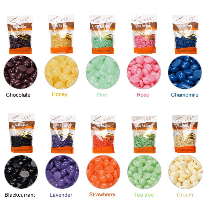 LadyMisty 300g/pack 10 Kinds Wax For Depilation Hair Removal Cream Wax Beans Brazilian No Strip Depilatory Hard Wax Waxing
