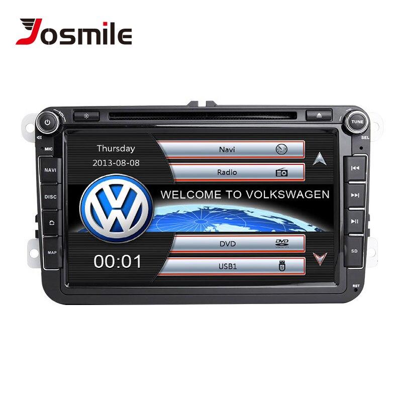Josmile 2 Din DVD Player Do Carro Para VW Volkswagen Passat b6 b7 Octavia Skoda Superb 2 T5 5 Polo de Golfe seat leon GPS Rádio de Navegação
