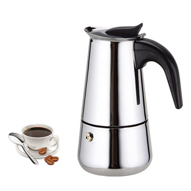 Stainless Moka Espresso Coffee Maker Mocha Italian Top Moka Cafeteira  Cottura Filtro Latte Stovetop Filter Coffee