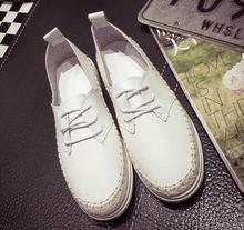 Free shipping!!!   Women's shoes new Europe and the United States 2016 flat non-slip breathable white shoe 35 to 39
