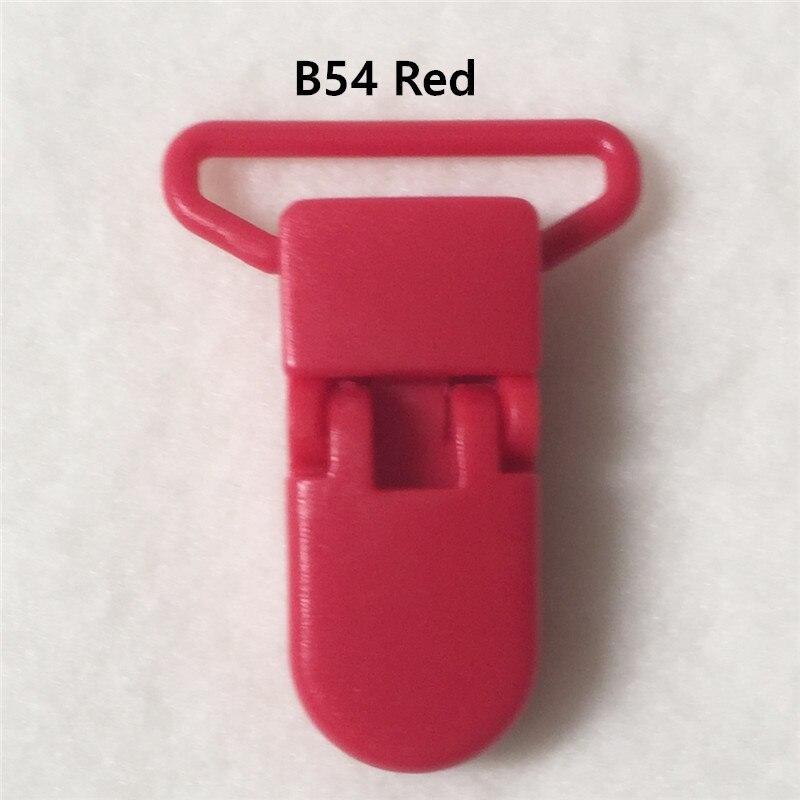 20 цветов смешанный) DHL 300 шт. Горячие формы D 2.5 см 1 ''Пластик маленьких Соски соска пустышка адаптер Chain Зажимы для 25 мм ленты - Цвет: B54