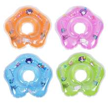 Baby Swimming Accessories Swim Neck Ring Infant Neck Ring Bath Swimming Pool Float Inflatable Double Balloon Safety Circle(China)