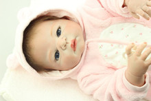 55cm Boutique red skin Baby Dolls Full Silicone Vinyl Alive Girl Doll Reborn For Children Gifts bebe reborn girls toy