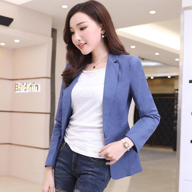 HanOrange 2018 Spring Summer New Korean Style Slim Solid color Suit Jacket Female Long Sleeve Lady Casual Blazer Plus Size 3XL girl