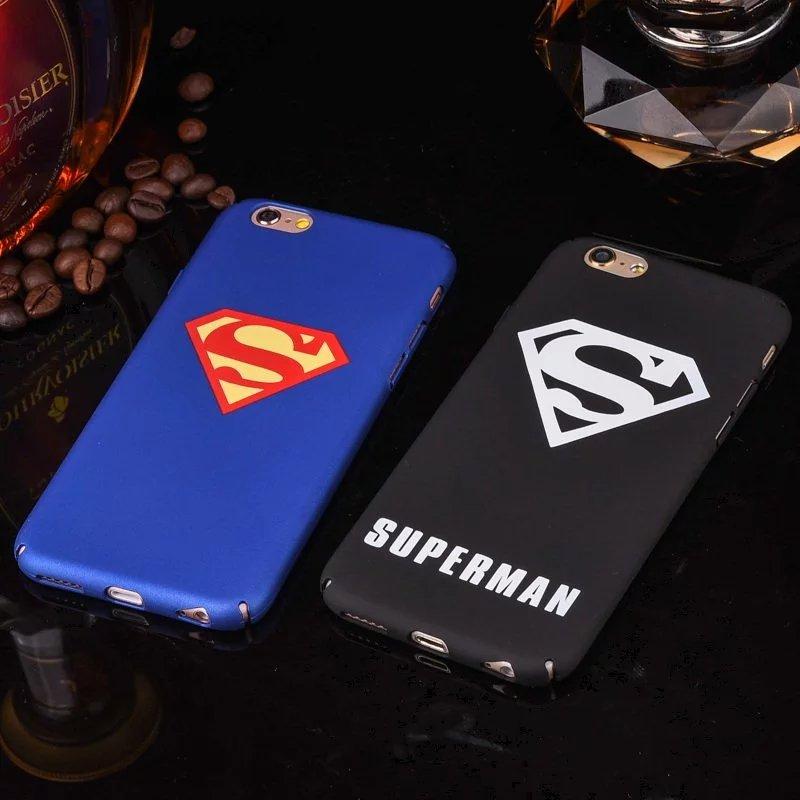 Moda Superman Patrón de Plástico Duro Caso Para el iphone 7 Más 6 6 s Más 5 5S S