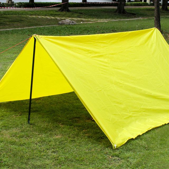 Ultralight Sun Shelter Camping Mat Beach Tent Pergola Awning Canopy 5 Colors 190T Taffeta Tarp Waterproof Camping Sunshelter