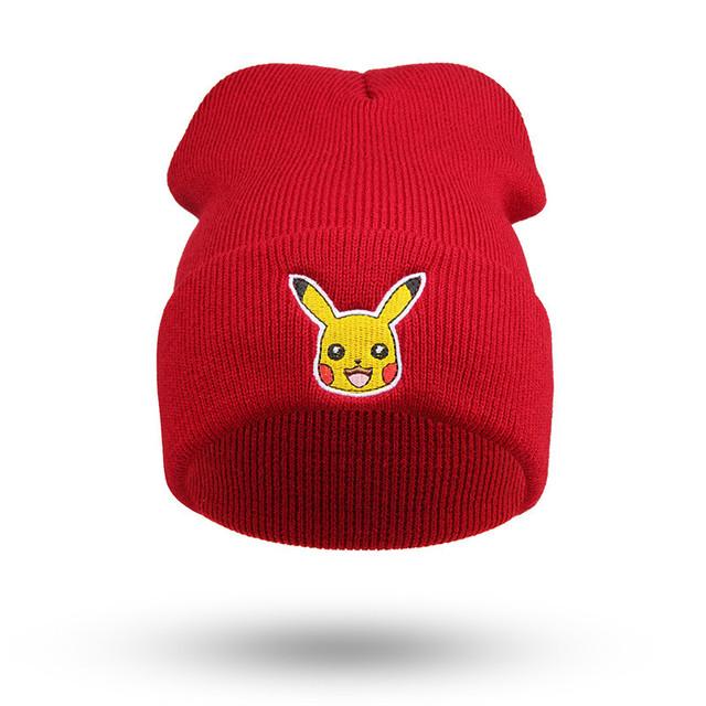 2016 Nuevos Modelos de explosión Masculina Pokemon Pikachu Sra. cálido otoño e Invierno sombrero de Punto de cobertura Cap skullies