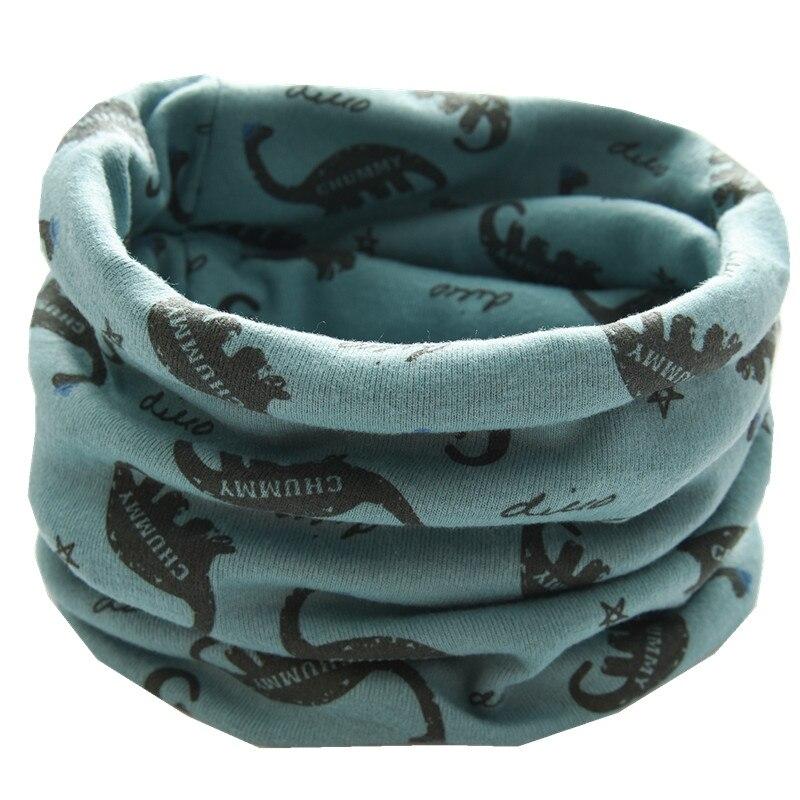 Новинка; сезон осень-зима; шарф из хлопка для девочек; Детский шарф; нагрудный шарф для мальчиков и девочек с круглым кольцом; милый детский шарф с воротником; Bufandas - Цвет: blue dinasour