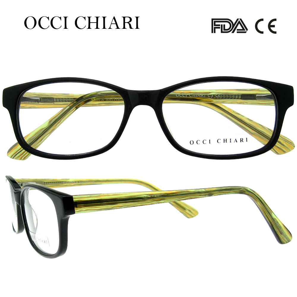 OCCI CHIARI 2018 New Fashion Radiation Protection Acetate Glasses Optical Frames Eyewear Eyeglasses For Women Gifts W-CAROLA