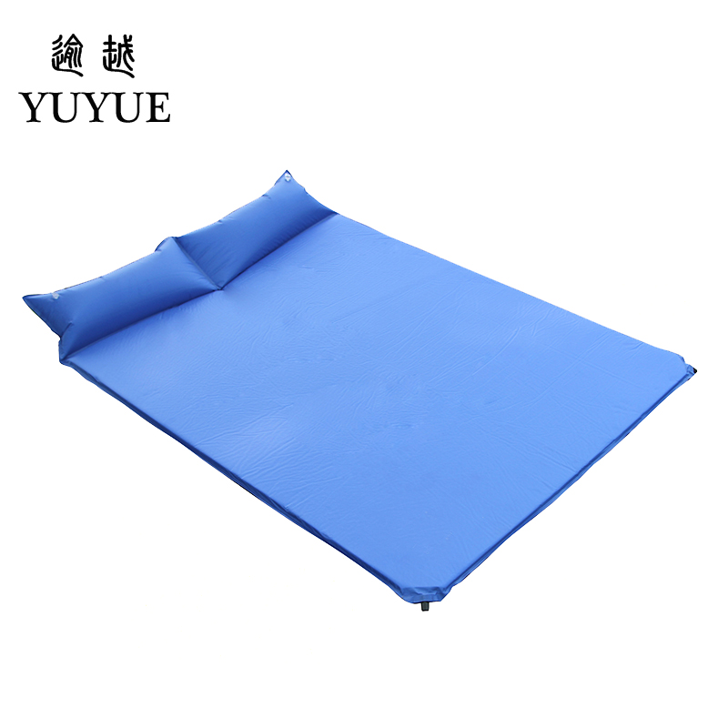 2 person Inflatable Mattress Outdoor Camping 3cm Thickening Air Bed with Pillow Sandbeach Self-driving Travel Air Foam Mat  0