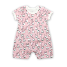 New Born Baby Clothes Cotton Girl Summer Infant Dress Jumpsuits Kids Costume Pink rabbit Romper