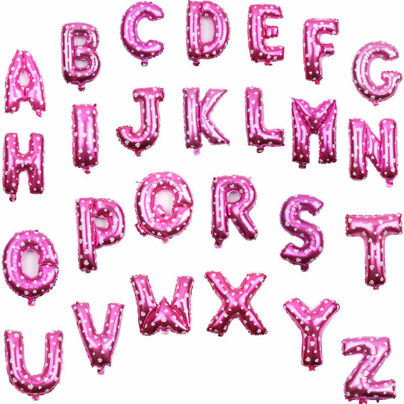 XXPWJ the  Pink 16 inch letter aluminum balloons birthday holiday wedding decoration toy balloons wholesale