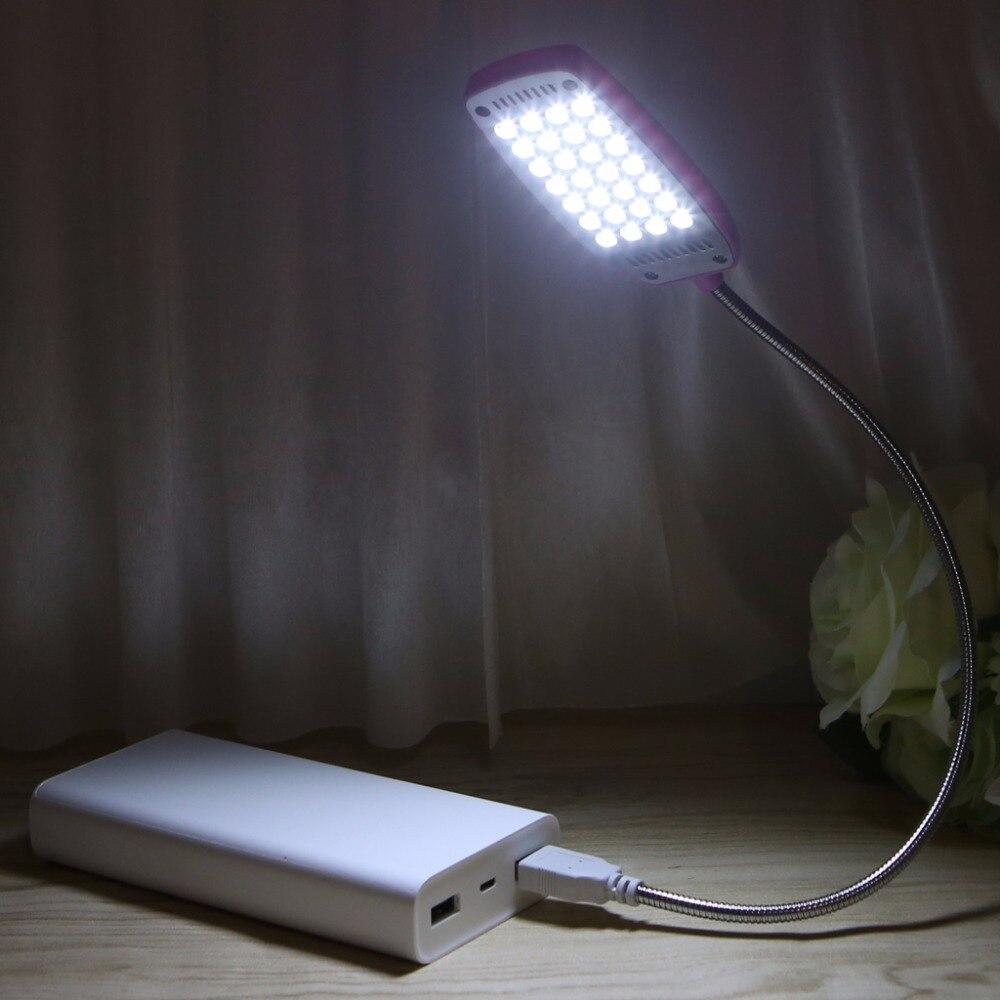 HNGCHOIGE 28 LED Flexible Computer Light Laptop Lamp Desktop PC Desk Reading Mini USB LED Lamp With Button