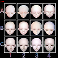 100% new Doll diy head single head sd luts bjd doi resin 1/3 BJD doll head