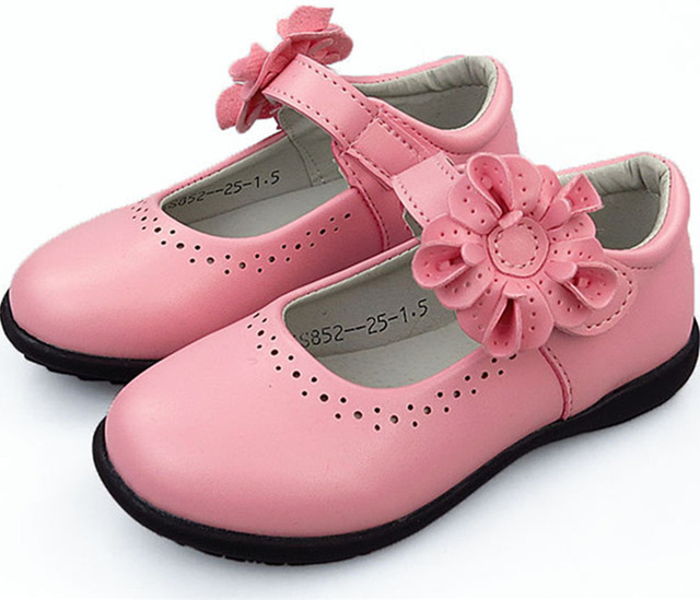 Autumn New Girls Princess Shoes For Kids School Black Leather Shoes For Student Dress Shoes For Girls 24M 3-16T Black Pink White
