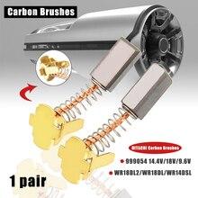 1 Pair Electric Motor Carbon Brushes Replacement For HITACHI 999054 14.4V / 18V / 9.6V WR18DL2/WR18DL/WR14DSL Hand Tools hitachi wr18dl2 ударный гайковерт