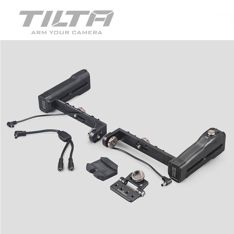 TILTA Bluetooth double poignée poignées de batterie avec bouton marche/arrêt pour G1 G2 G2X 3 axes stabilisateur de cardan gravité série G