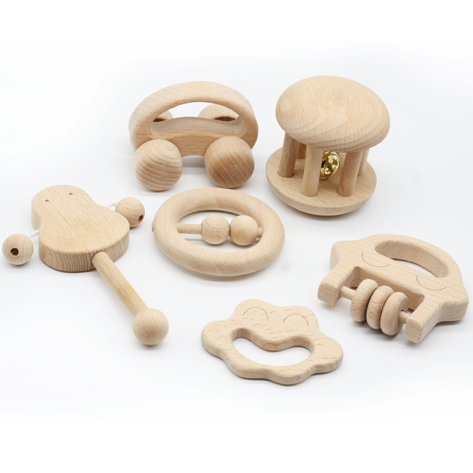 Puzzle Toys intellectual of children Montessori Toys set Nursing Wooden Wooden Rattles Baby fun and interesting toys