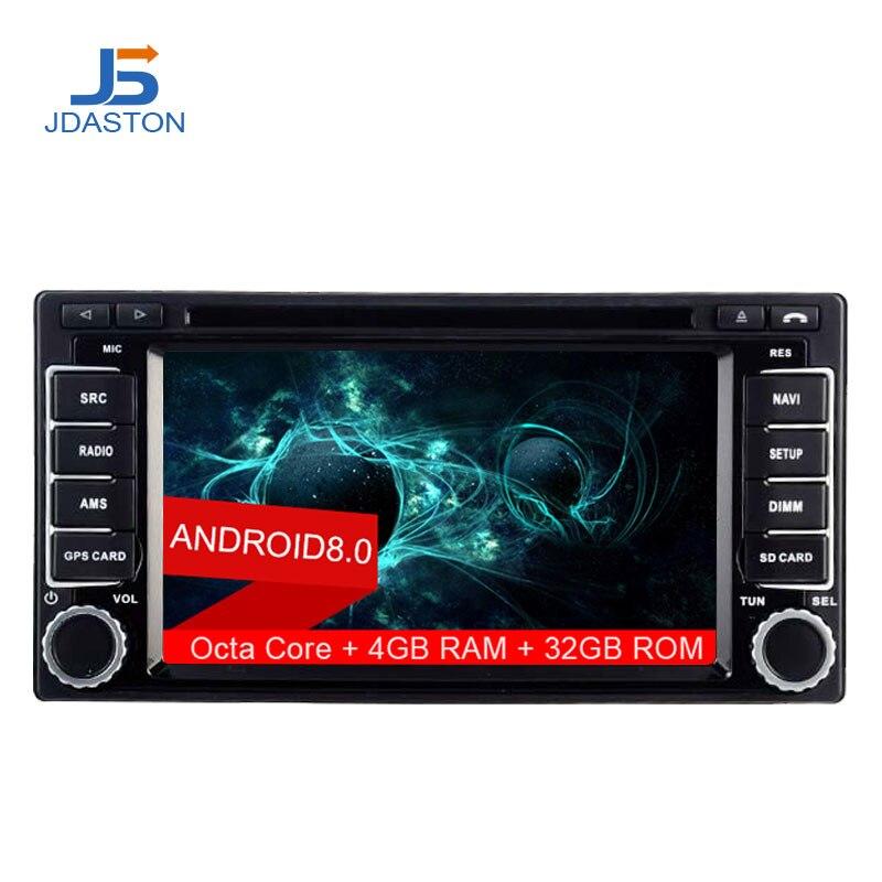 JDASTON Android 8.0 2 Din Autoradio Pour Subaru Forester Impreza 2008-2011 Octa Cores 4g + 32g Multimédia GPS Navi Audio DVD Vidéo