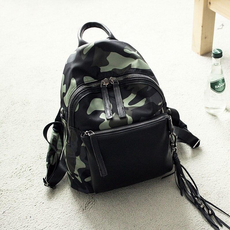 ФОТО 2017 Mochila Feminina Kpop Mochilas New Fashion Casual Camouflage Backpack Women's Nylon Diaper Bag Large-capacity Zipper Women