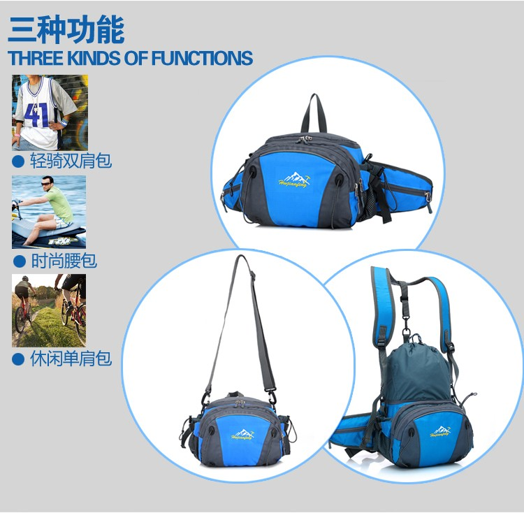 Men Women Sport Waist Bag Pack Backpack With Bottle Holder Outdoor Exploration Travel Casual Cycling Gym Storage Bag Packs (2)