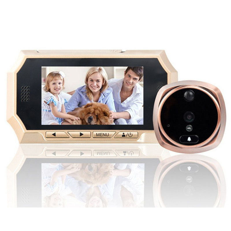 4.3  LCD Color Screen Doorbell Viewer Digital Peephole Viewer 160 Degree Door Intercom Camera IR Night Vision Motion Detection4.3  LCD Color Screen Doorbell Viewer Digital Peephole Viewer 160 Degree Door Intercom Camera IR Night Vision Motion Detection