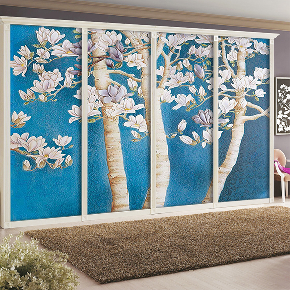 buy yazi customized size pvc self adhesive pvc wardrobe sliding door sticker. Black Bedroom Furniture Sets. Home Design Ideas