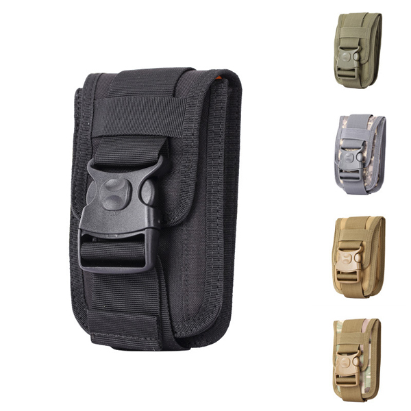 ce91a9b8ae97 US $8.27 6% OFF|1000D waterproof Men Tactical Molle Pouch Outdoor EDC bag  backpack Gadget Belt Waist Bag with 6 Inch Cell Phone Holder-in Climbing ...