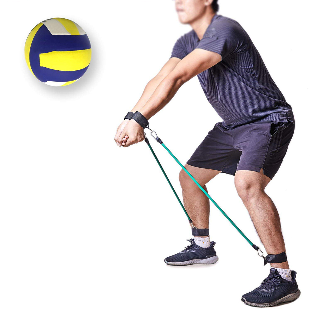2019 New Volleyball Training Aid Resistance Band Bounce Training Rope Agility Training Prevent Excessive Upward Arm Movement