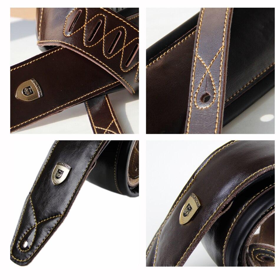 Dark Brown Leather Double Padded 100% handgemaakte guita basgitaar - Muziekinstrumenten - Foto 6