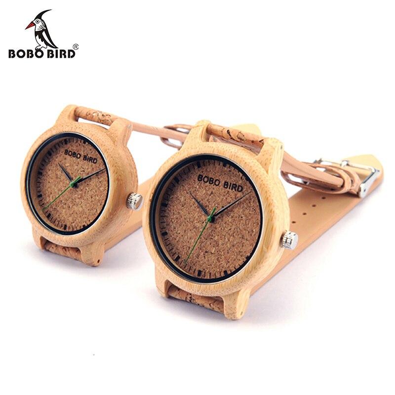 BOBO BIRD loves'Fashion Bamboo Wrist Watches Luxury Brand Quartz Wristwatch with Cork Band for Men Women Relojes Mujer 2017 bobo bird brand design i29 nature bamboo watch mens watches top brand luxury green second hand wristwatch with bamboo band