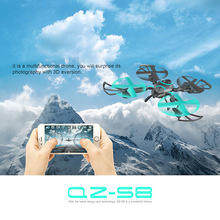 Large kids RC model toy WIFI real time folding selfie RC drone 2 4G 6axis 40cm