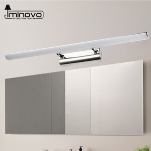 Nordic LED Mirror Light 7W 9W Stainless+Acrylic Modern Decor Lighting 40CM 56CM Bathroom Lamp Bedroom Foyer Study Sconce(China)