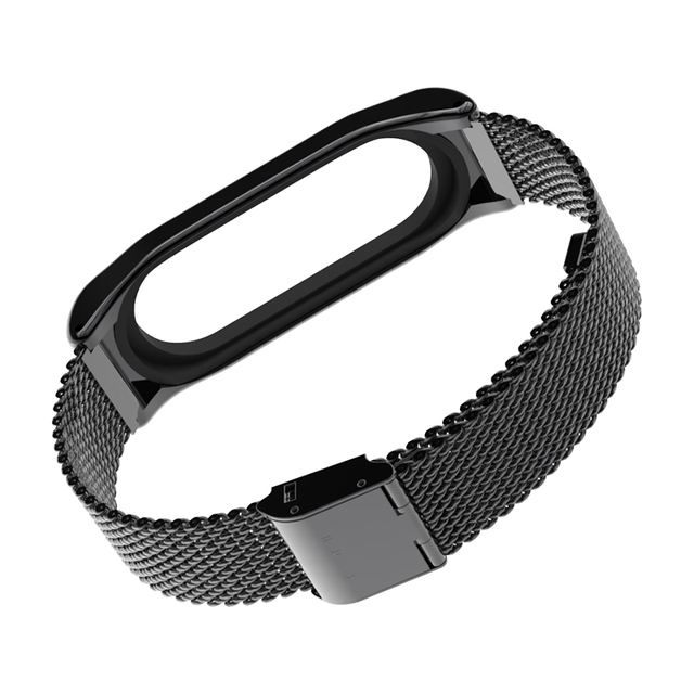 For Original Xiaomi Mi Band 3 Metal Strap Mijobs Metal Strap Plus For Mi Band 3 Strap Screwless Stainless Steel Bracelet For Mi3