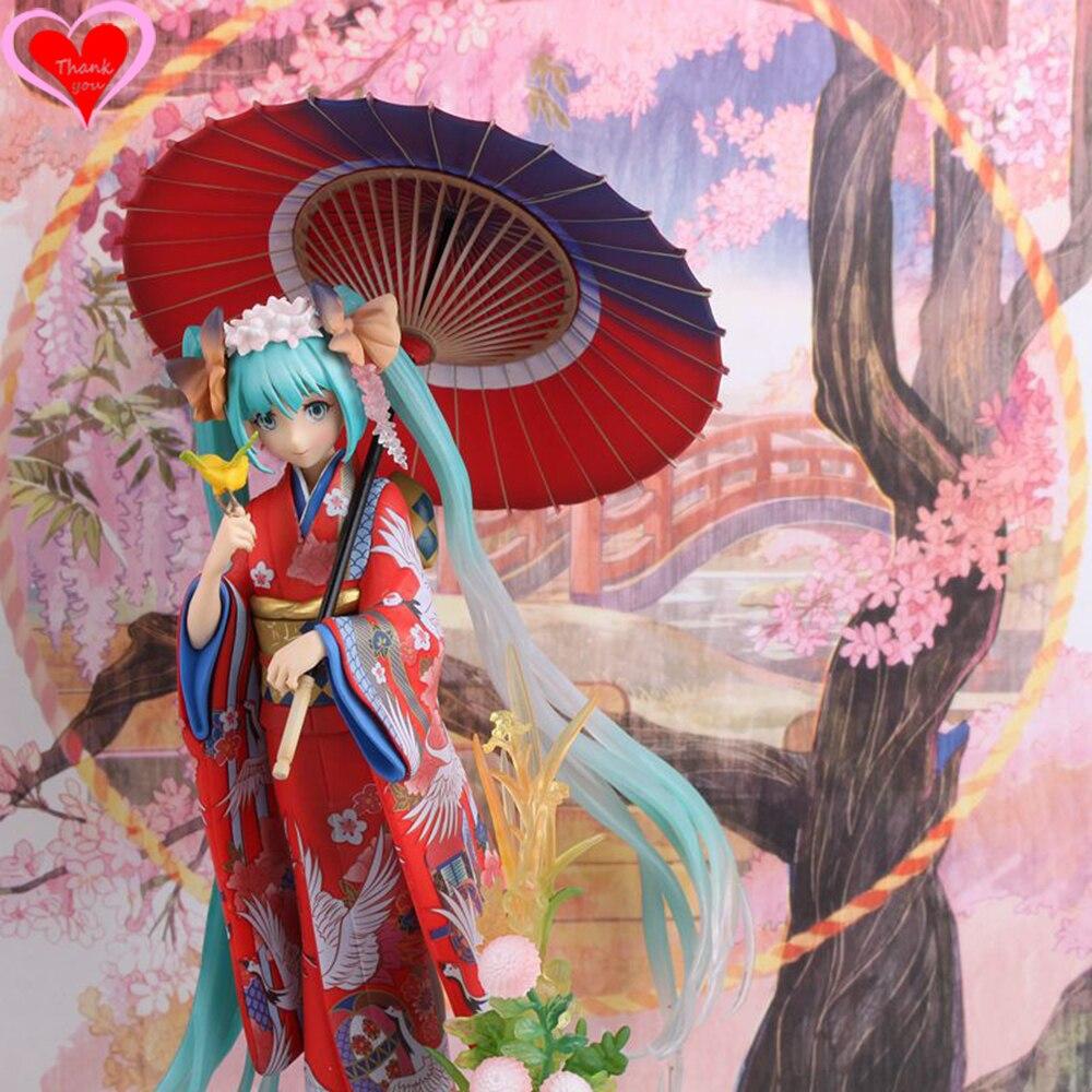 Love Thank You Hatsune Miku Kimono Yukata Hanairogoromo Stronger figure toy 20 cm box new anime figure toy Model gift doll BOX